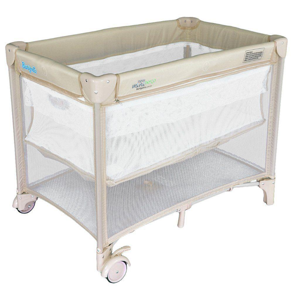 Berço Para Bebê New Mini Burigotto Beige