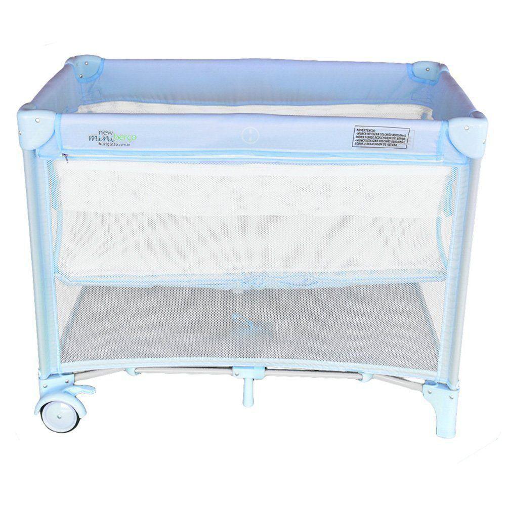 Berço Para Bebê New Mini Blue Burigotto
