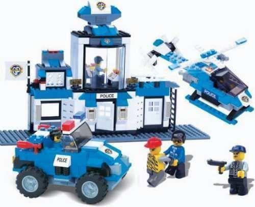 Bloco Montar Defensores da Ordem Polícia 459 peças 06854