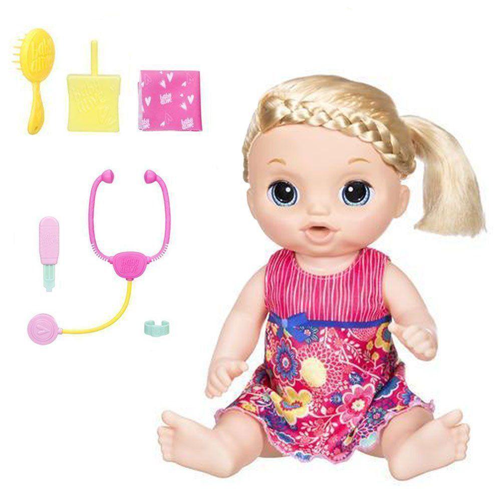 Boneca Baby Alive Doces Lágrimas Loira Fala e Chora C0957