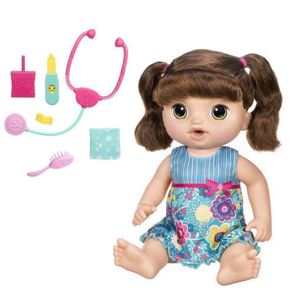 Boneca Baby Alive Doces Lágrimas Morena Fala e Chora C0958