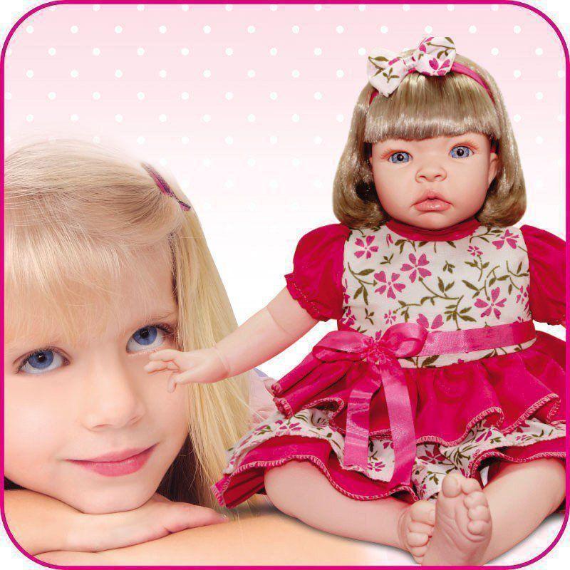 Boneca Baby Kiss Loira Chora e Balbucia Como um Bebe de Verdade Sid-Nyl