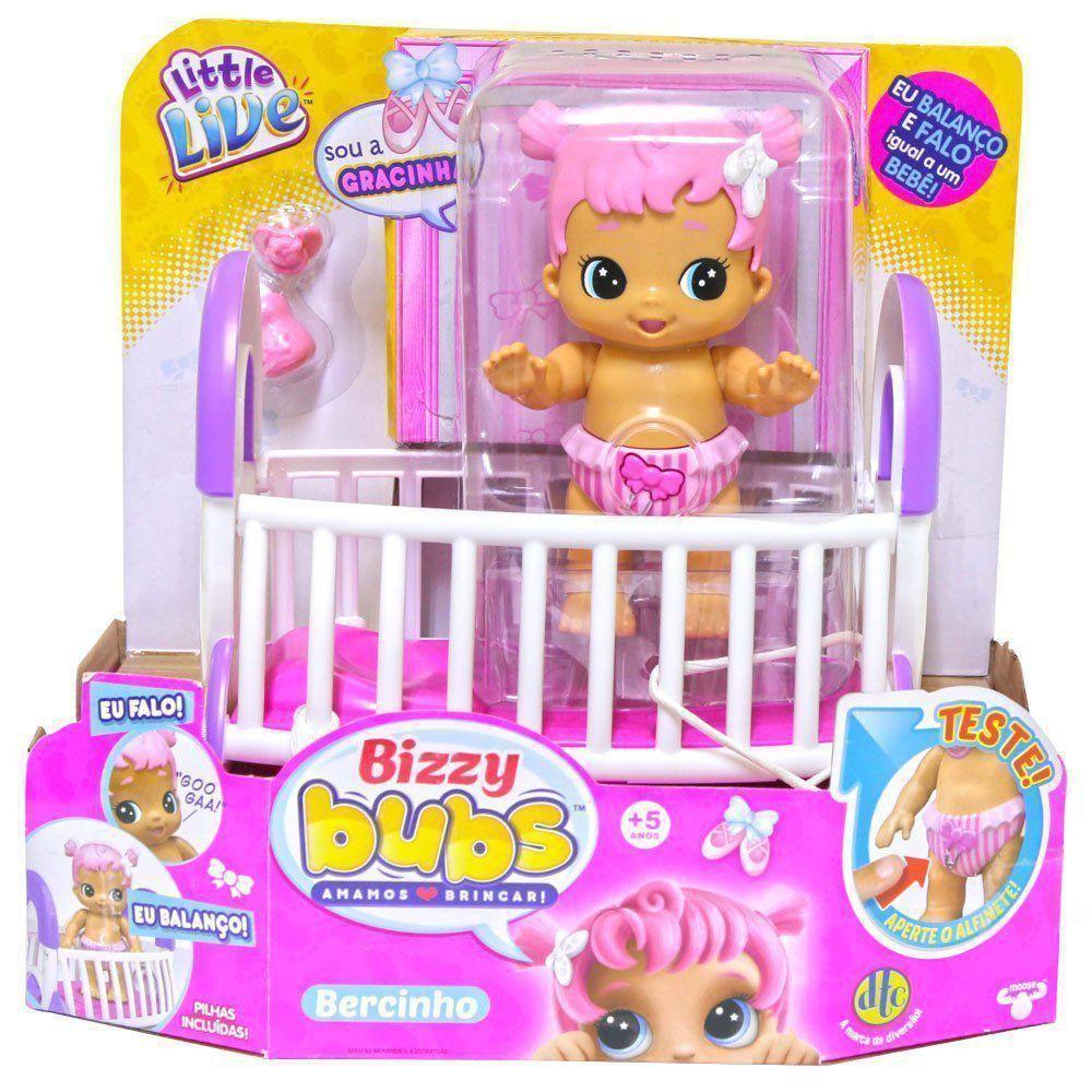 Boneca Bizzy Bubs Playset Bercinho Gracinha Dtc 4649