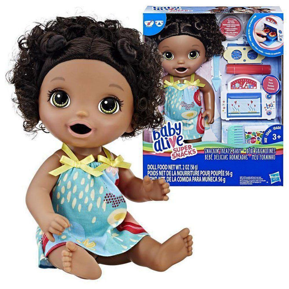 Boneca Cabelo Preto Baby Alive Forninho Hasbro E2099