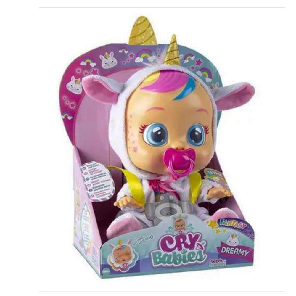 Boneca Cry Babies Dreamy Que Chora de Verdade Para Bebe - Multikids