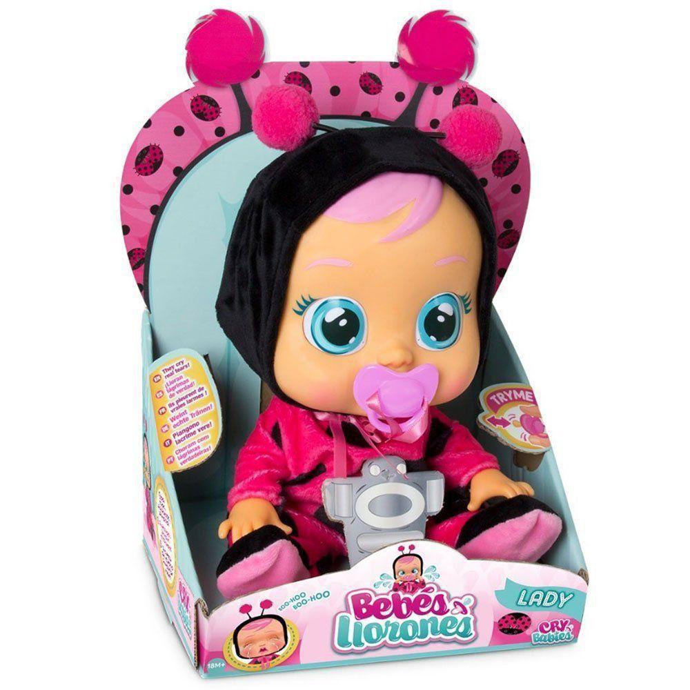 Boneca Cry Babies Lady Que Chora de Verdade Para Bebe - Multikids