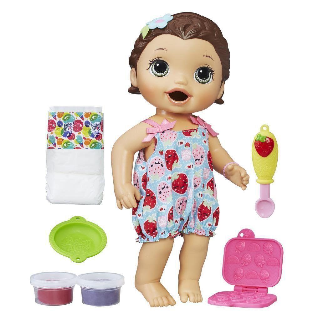 Boneca Morena Baby Alive Lanchinhos Divertidos Hasbro C2698