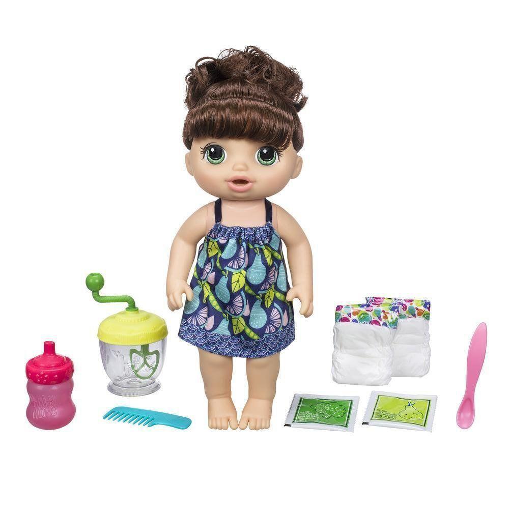 Boneca Morena Baby Alive Papinha Divertida Hasbro E0587
