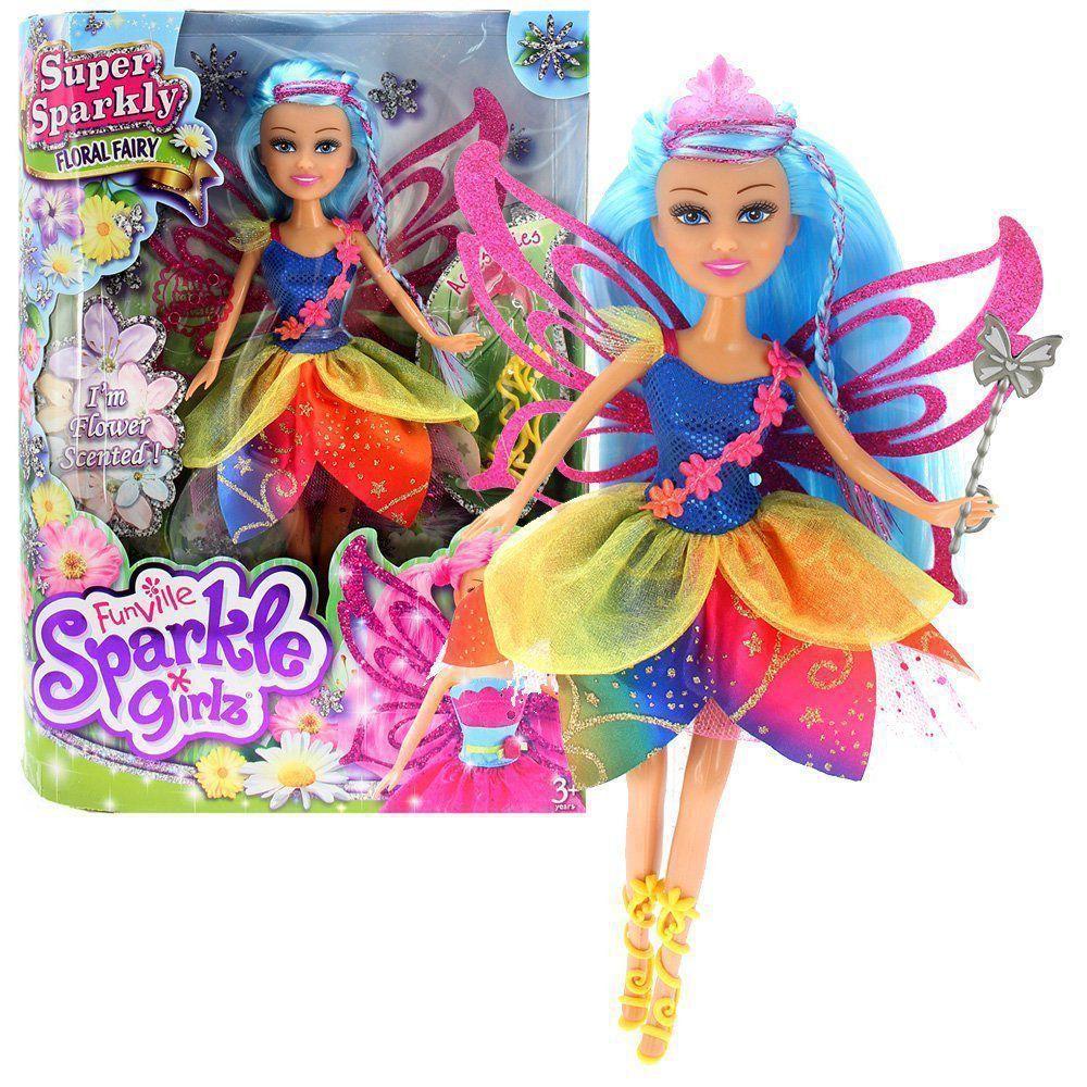 Boneca Sparkle Girlz Fada Das Flores Dalila com Acessórios DTC 4804