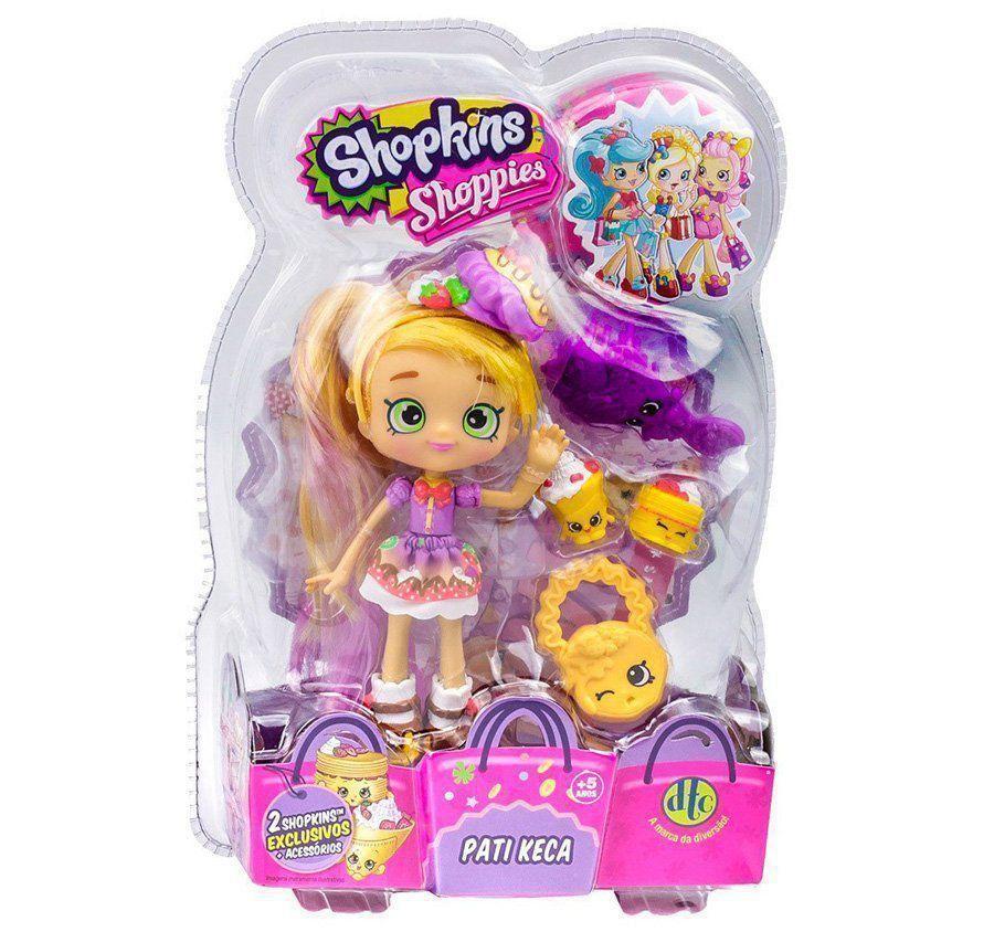 Boneca Shopkins Shoppies Pati Keca + 2 Shopkins Exclusivos DTC 3735