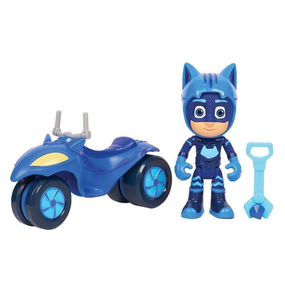 Boneco Menino Gato + Veículo Lunar - Pj Masks Dtc - 4817