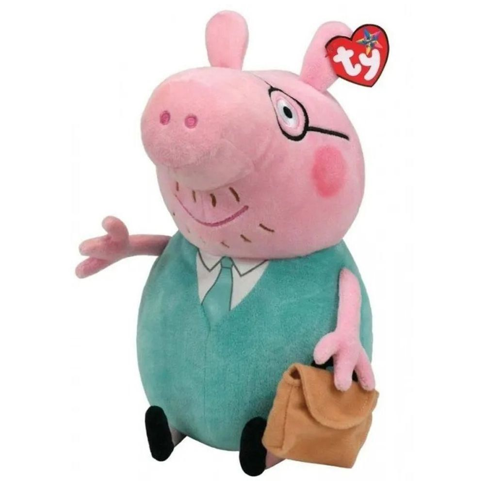 Boneco Papai da Peppa Pig de Pelucia