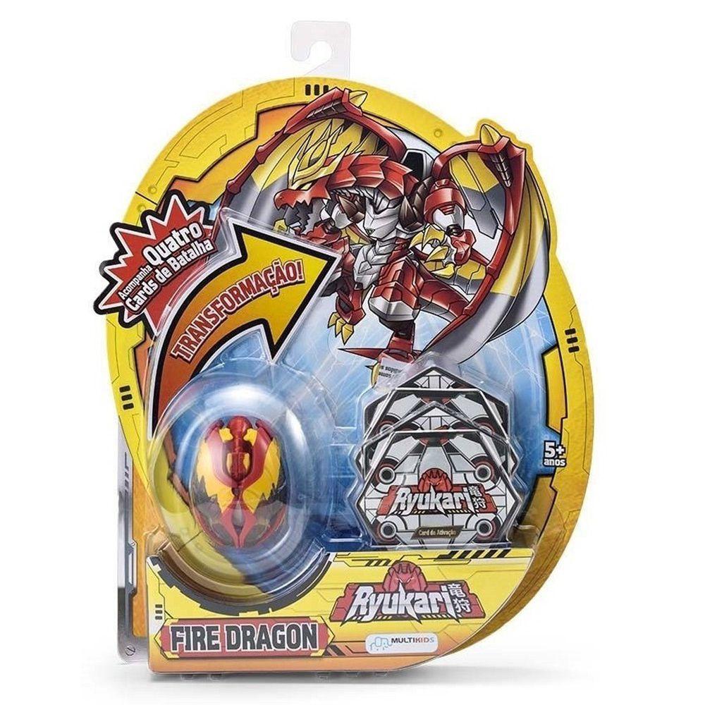 Boneco Ryukari Set-fire Dragon Multikids Br087