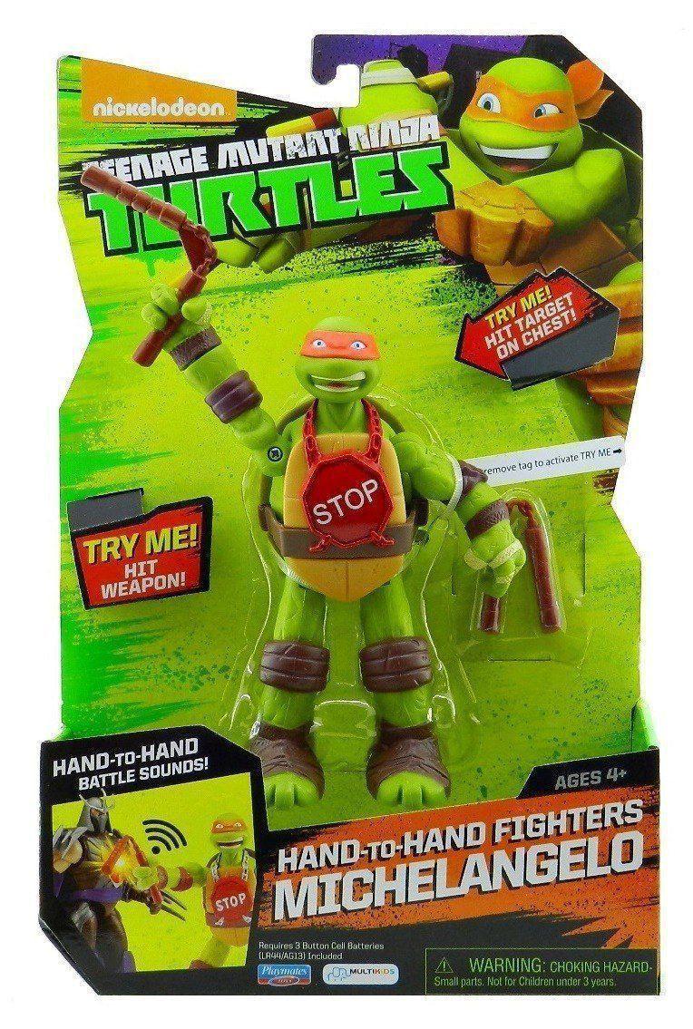 Boneco Tartarugas Ninja Com Som Michelangelo Multikids BR412