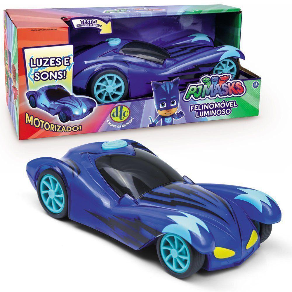 Brinquedo Carro Luminoso Felinomóvel Pj Masks Dtc - 4664