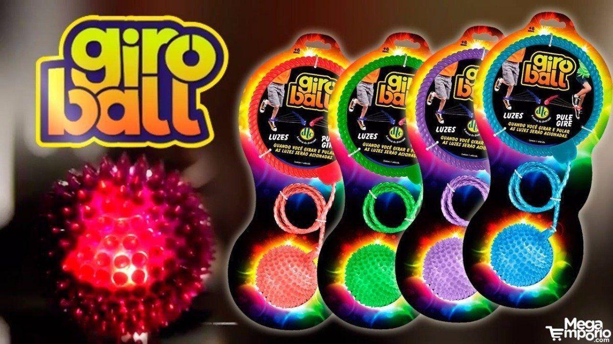 Brinquedo Giroball Sortido Com Luzes Pule E Gire Dtc 3805