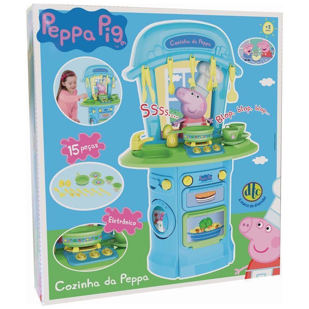 Conjunto Peppa Pig Cozinha Da Peppa Eletrônica Original Dtc 4775