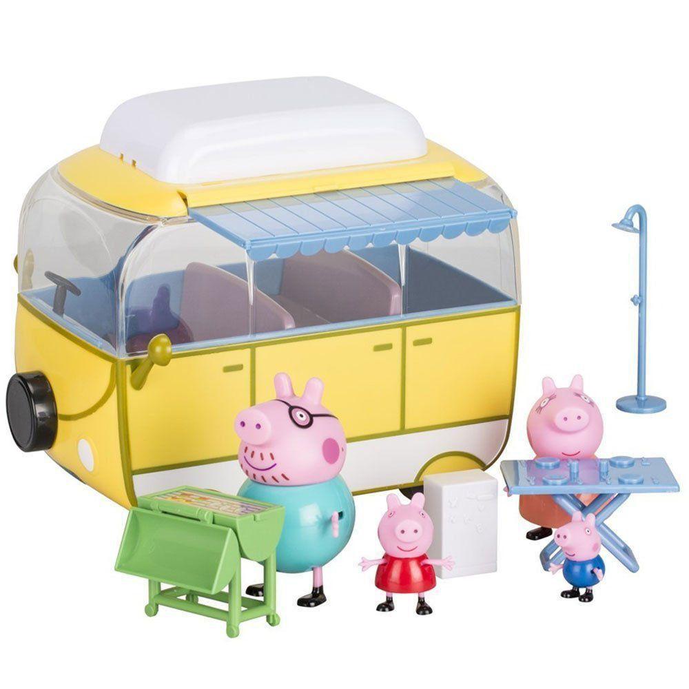 Peppa Pig George Van De Acampamento Família Pig DTC 4855
