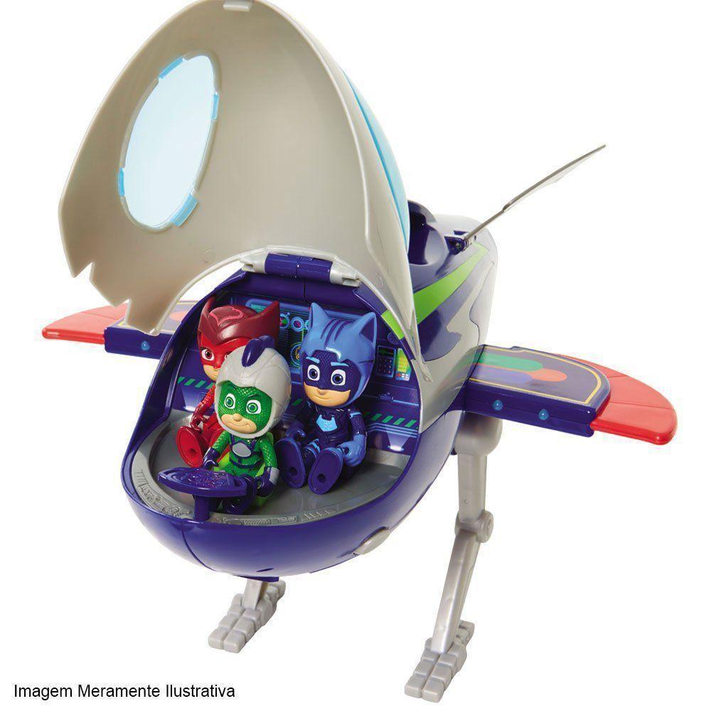 Pj Masks Foguete Com Luz E Som e Largatixo Aventura Lunar DTC 4818