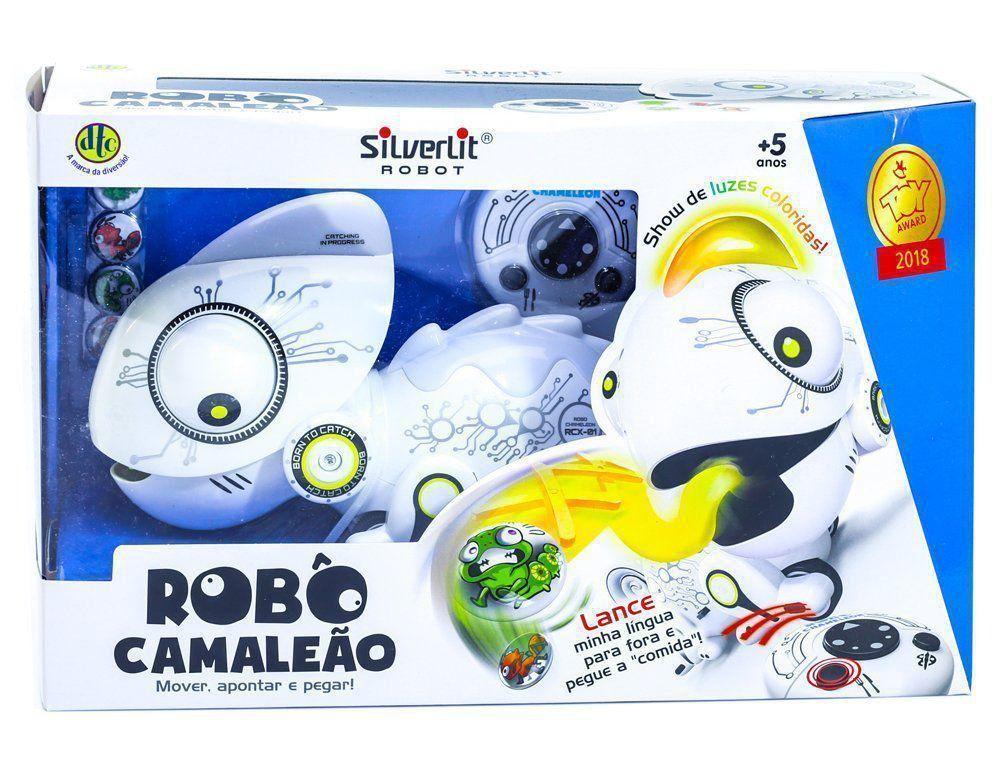 Brinquedo Robo Camaleão Silverlit Controle Remoto Luz Dtc 4797