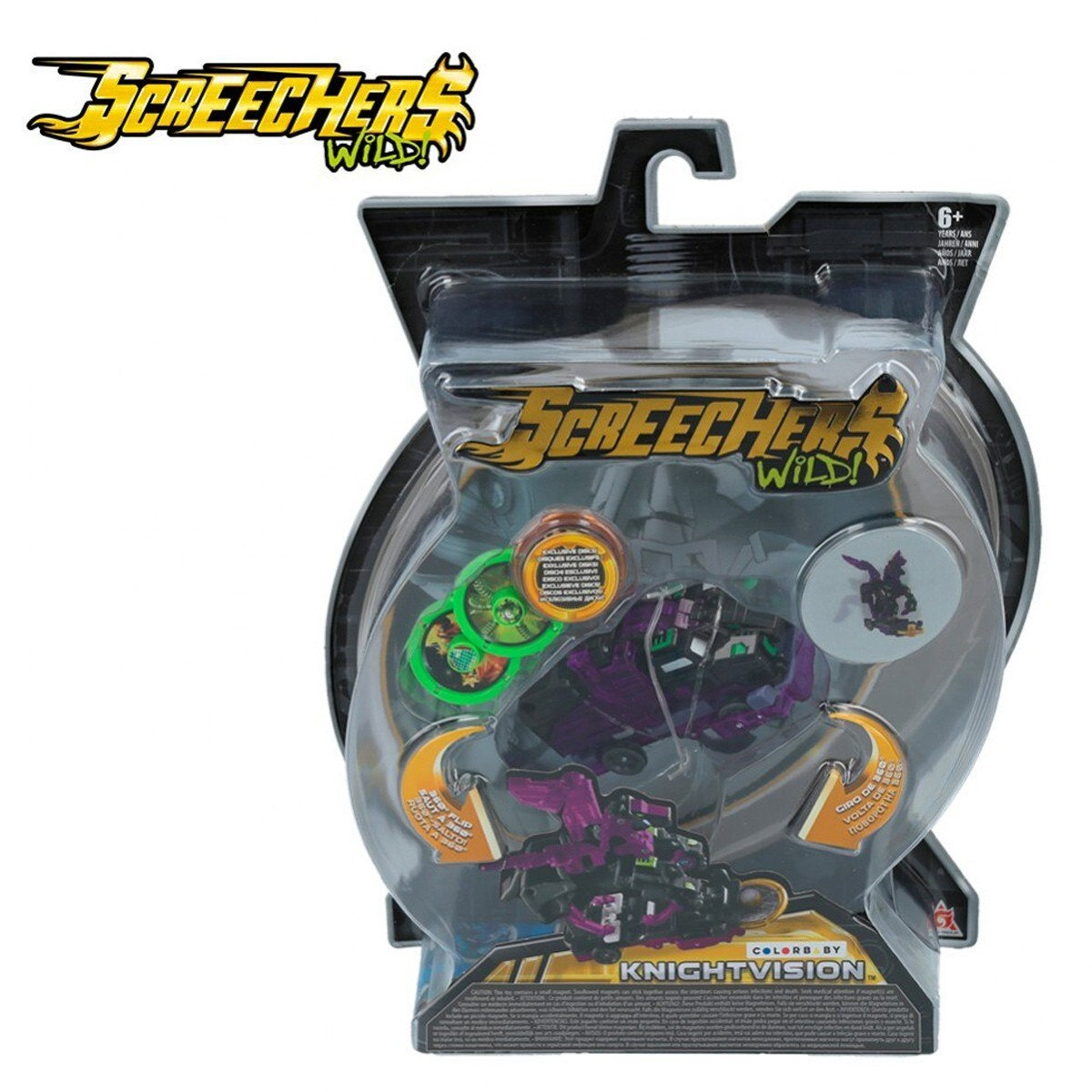 Brinquedo Screechers Knightvision com 3 Discos 4719