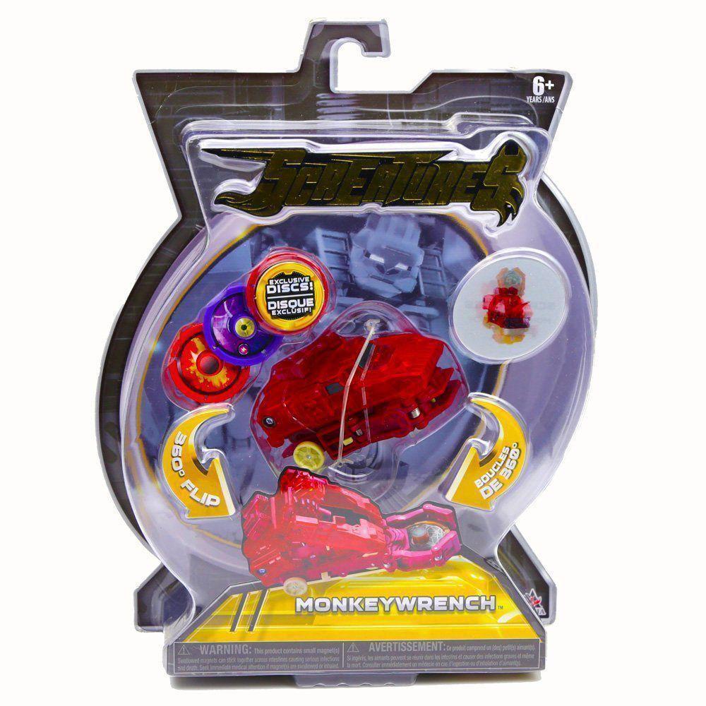 Brinquedo Screechers Monkeywrench com 3 Discos 4719