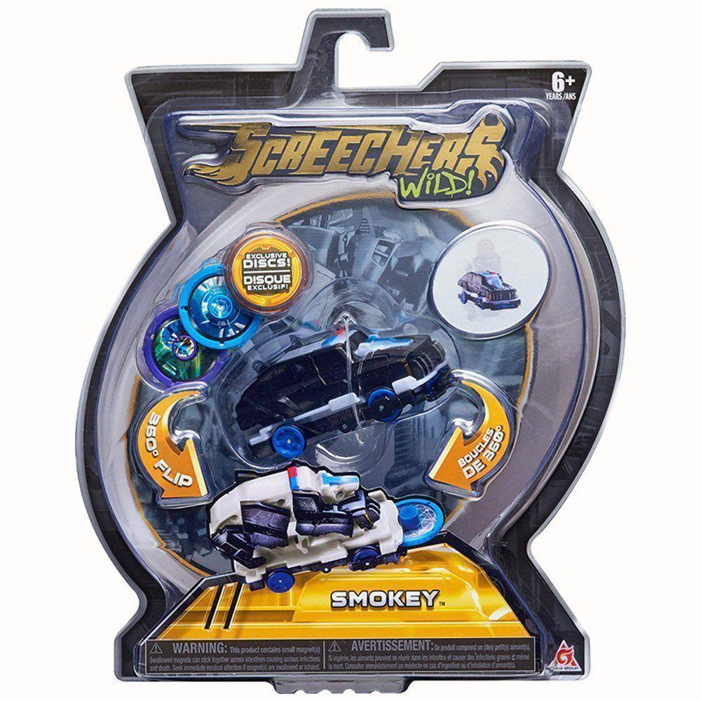 Brinquedo Screechers Smokey Com 3 Discos 4719