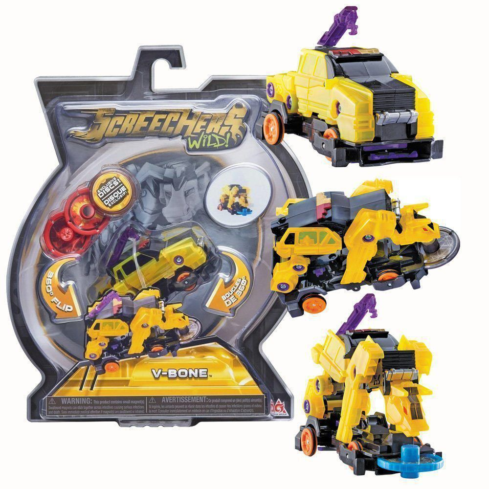 Brinquedo Screechers V-Bone com 3 Discos 4719