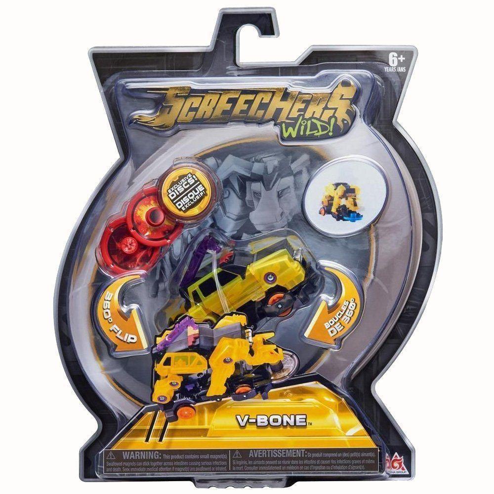 Brinquedo Screechers V-Bone com 3 Discos 4719