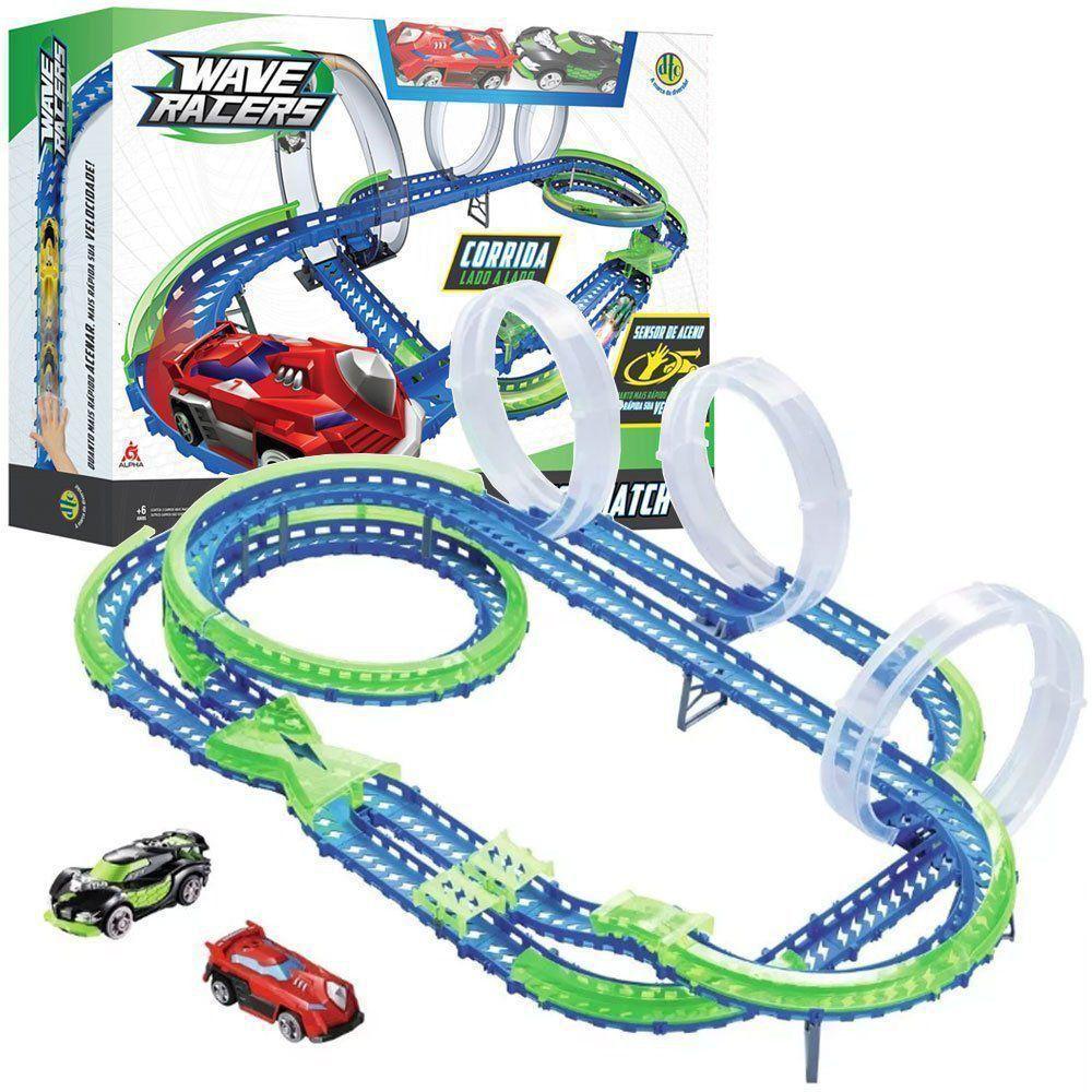 Wave Racers Mega Match 3 Loops 360 + 2 Carros + Sensor Dtc 4711