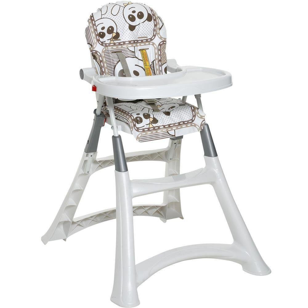 Cadeira Alimentação Portatil Bebe Galzerano Refeição Panda 5070PA