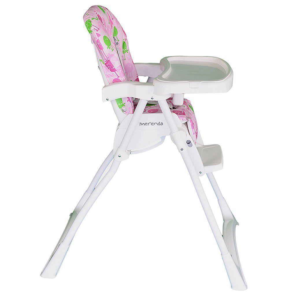 Cadeira Cadeirão De Alimentação Bebê Merenda Burigotto Rosa