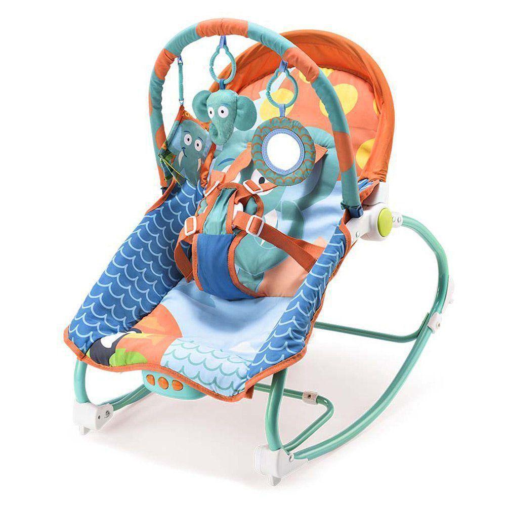 Cadeira De Balanço Para Bebês 0-20 Kg Elefante Multikids Baby BB363