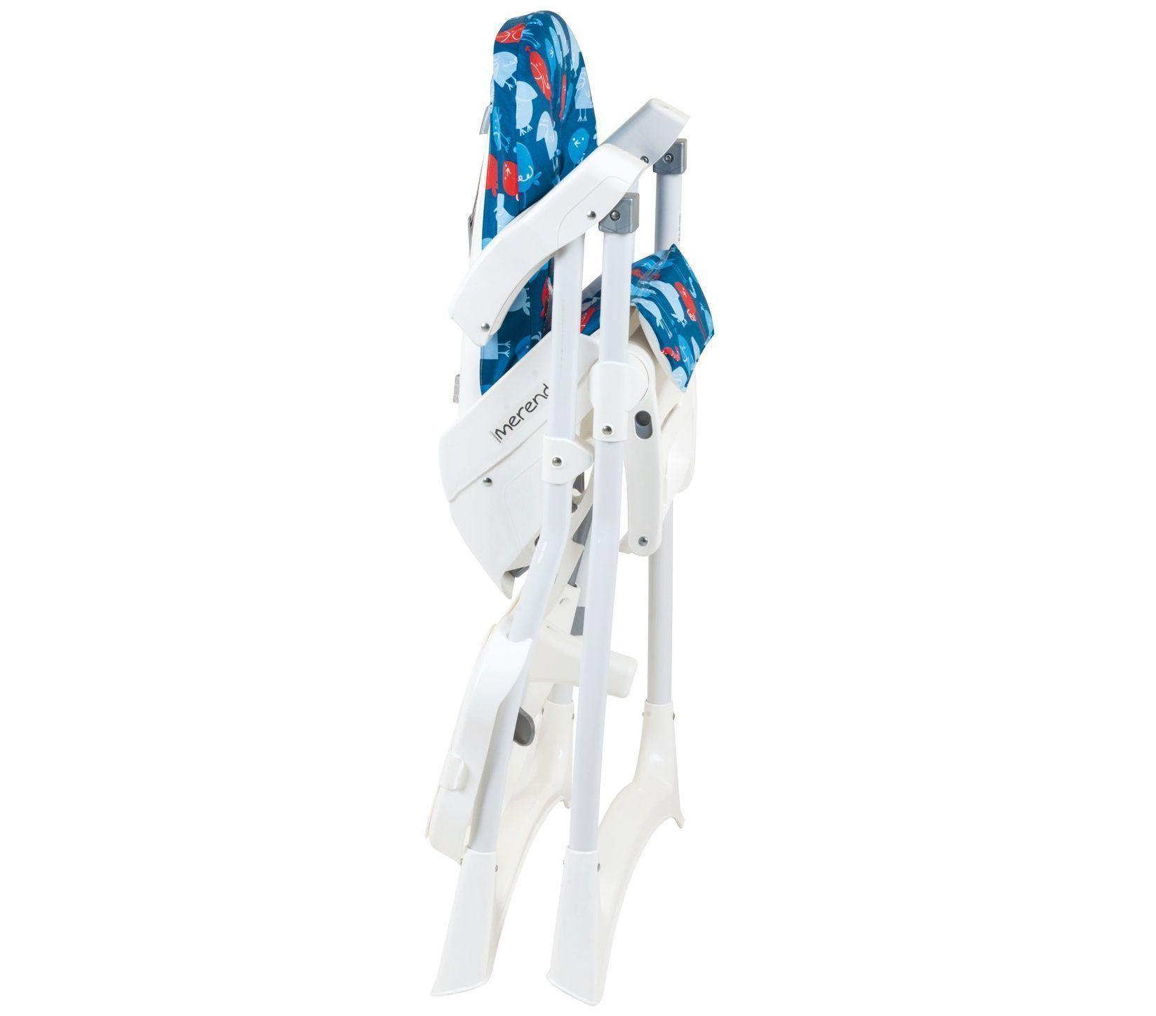 Cadeira de Refeição Alimentação Burigotto Merenda Passarinho Azul