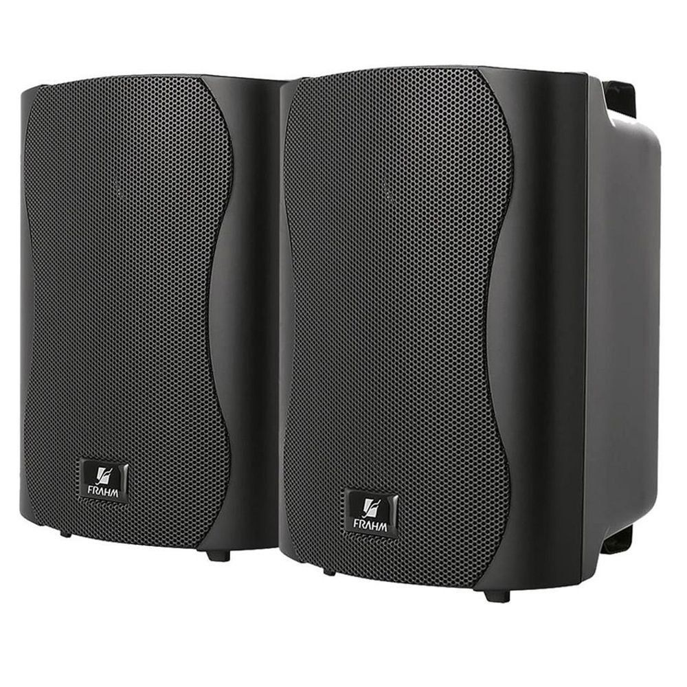 Caixa Acústica Frahm PS4 Plus Preta Para Som Ambientes 80w