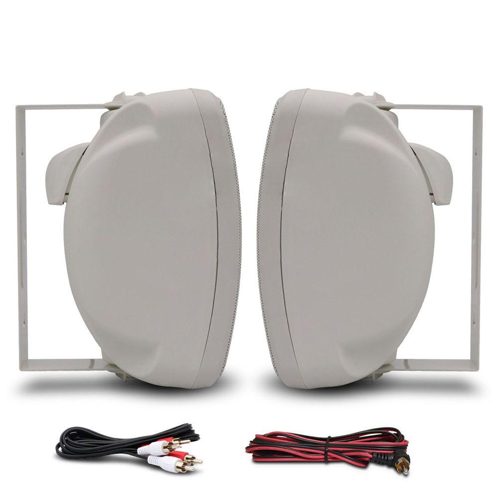 Caixa Acústica kaz K6 Bluetooth 6 Pol 400w Rms Branca Resistente á Água