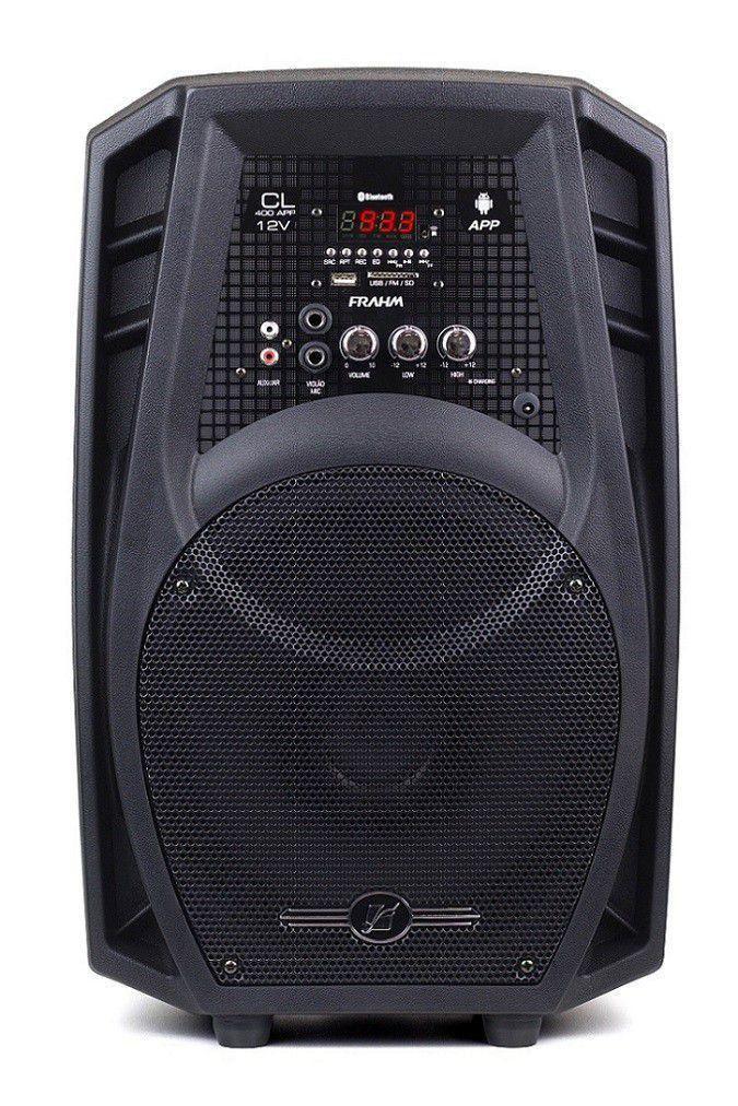 Caixa Amplificada Cl400 App 12v 80w Bluetooth Frahm