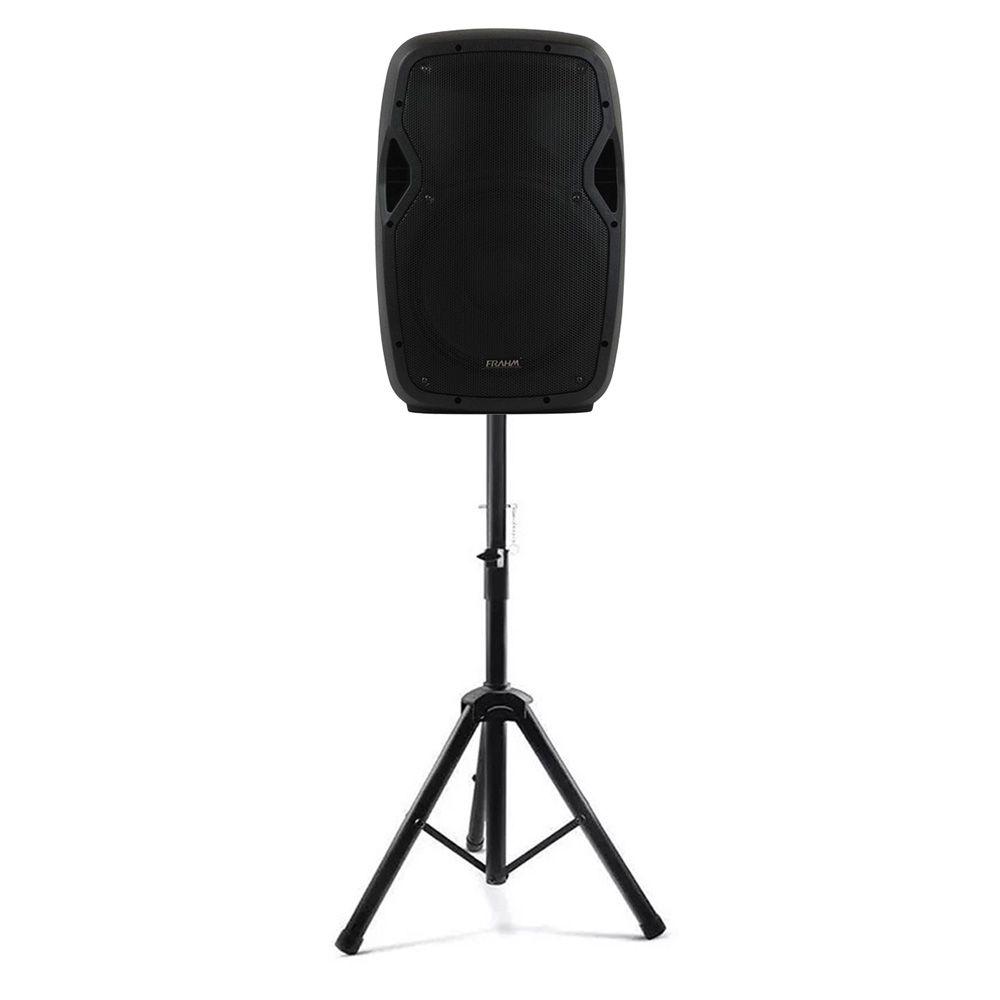 Caixa Amplificada Com Tripé Frahm Groov GR12A BT 250W Bluetooth