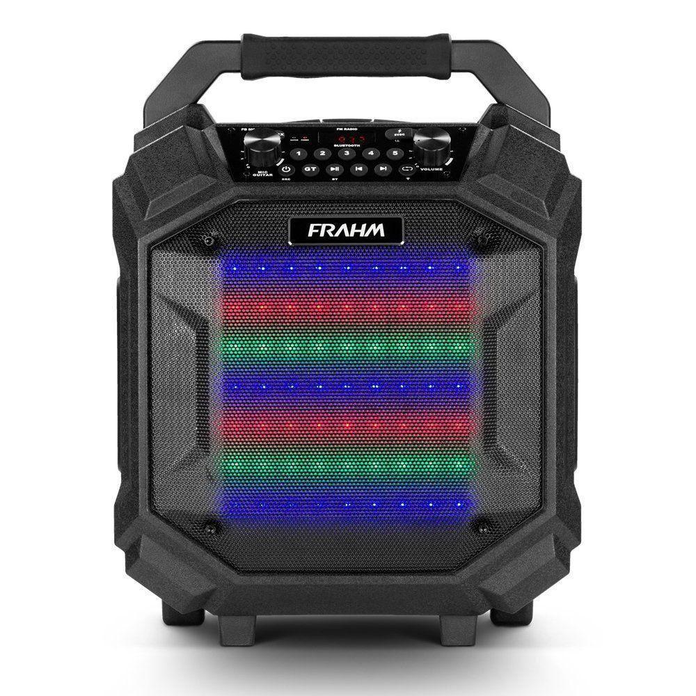 Caixa Amplificada Frahm Pb500bt Roller 250w Rms Emborrachada