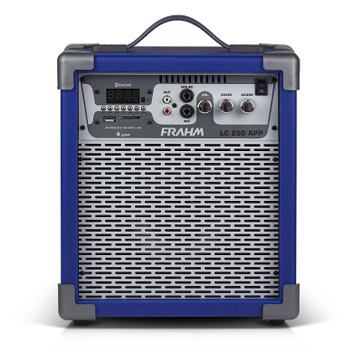 Caixa Amplificada LC250 Bluetooth Azul 50W Frahm