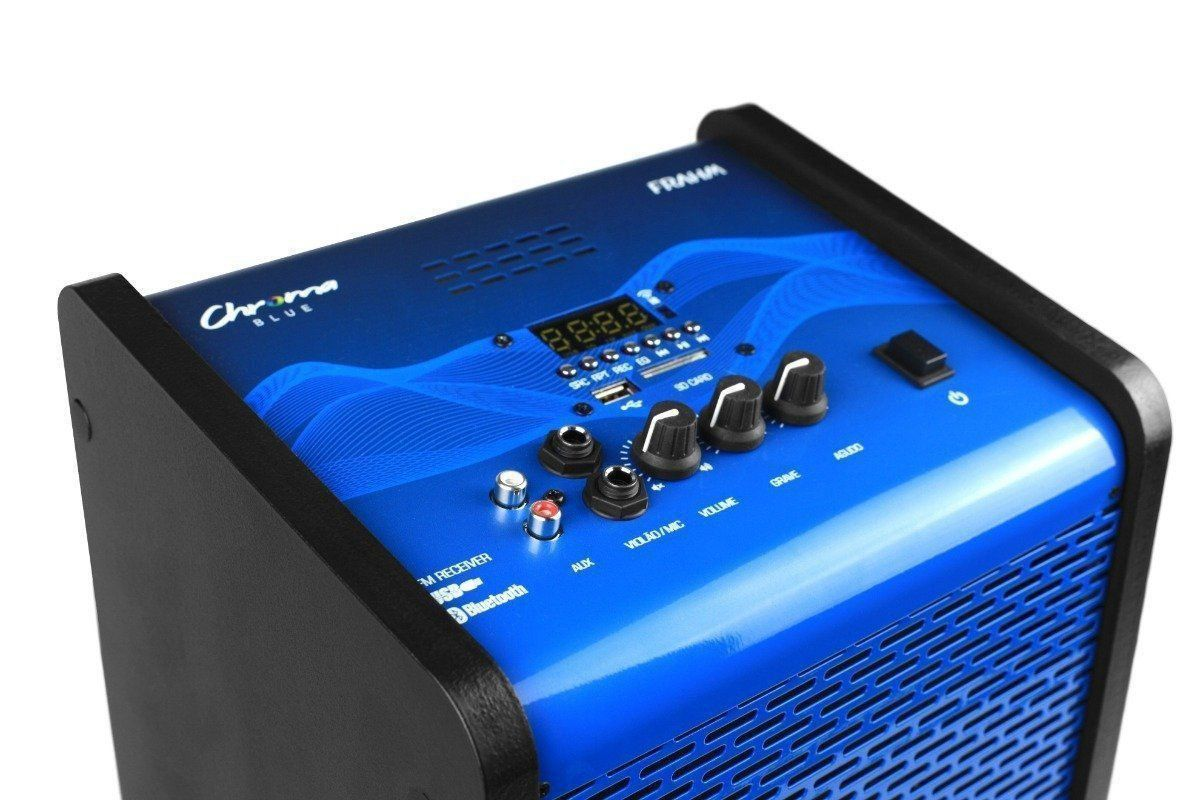 Caixa Amplificada Multiuso Frahm Chroma Azul Bluetooth Cr400