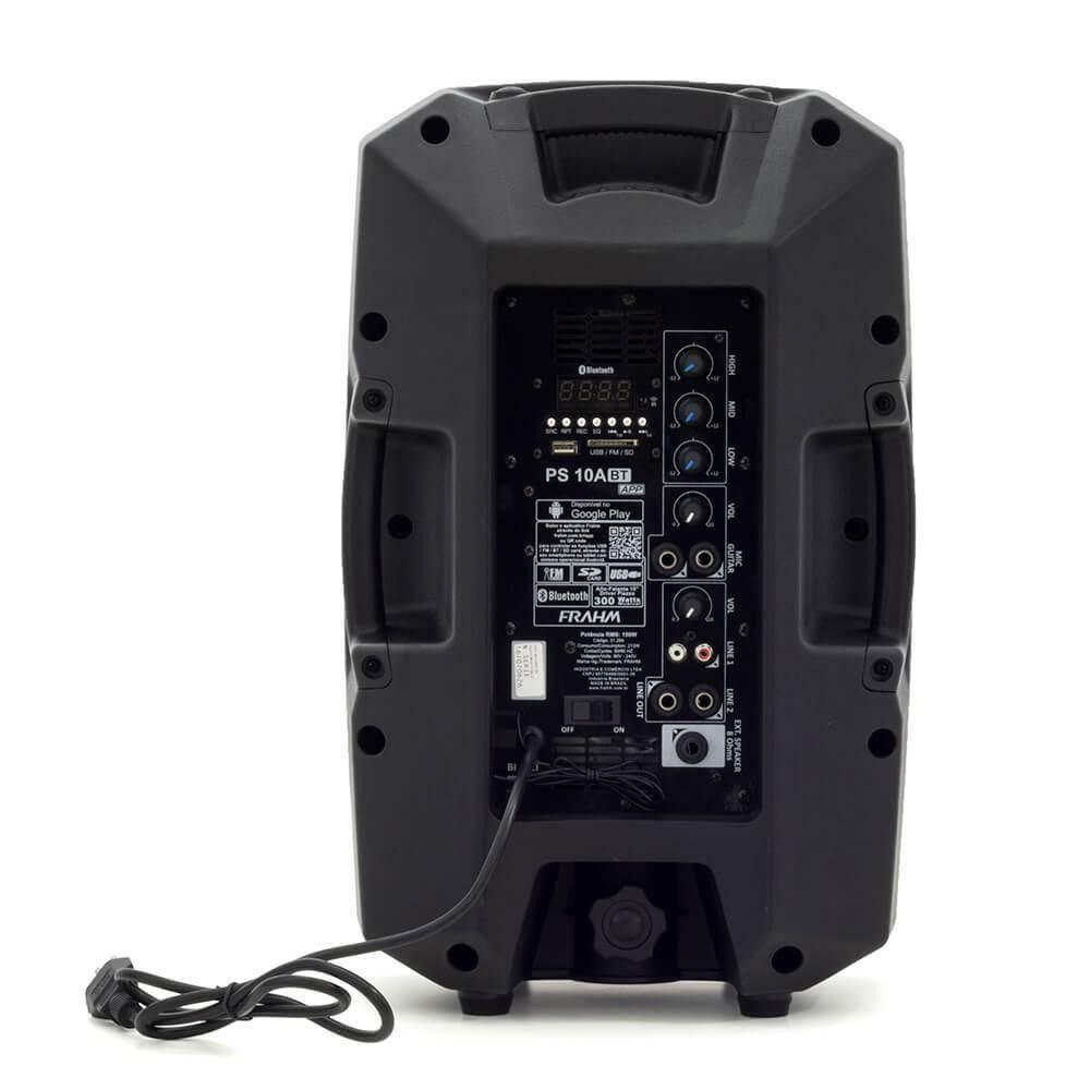 Caixa Amplificada Ps10a Bt App Frahm 150w Rms