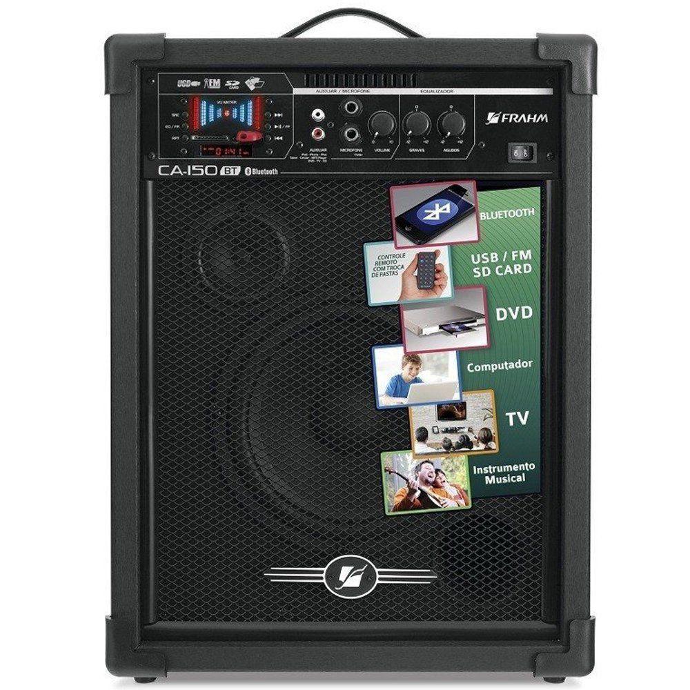Caixa De Som Frahm Amplificada Ca-150bt Bluetooth Usb Sd Fm