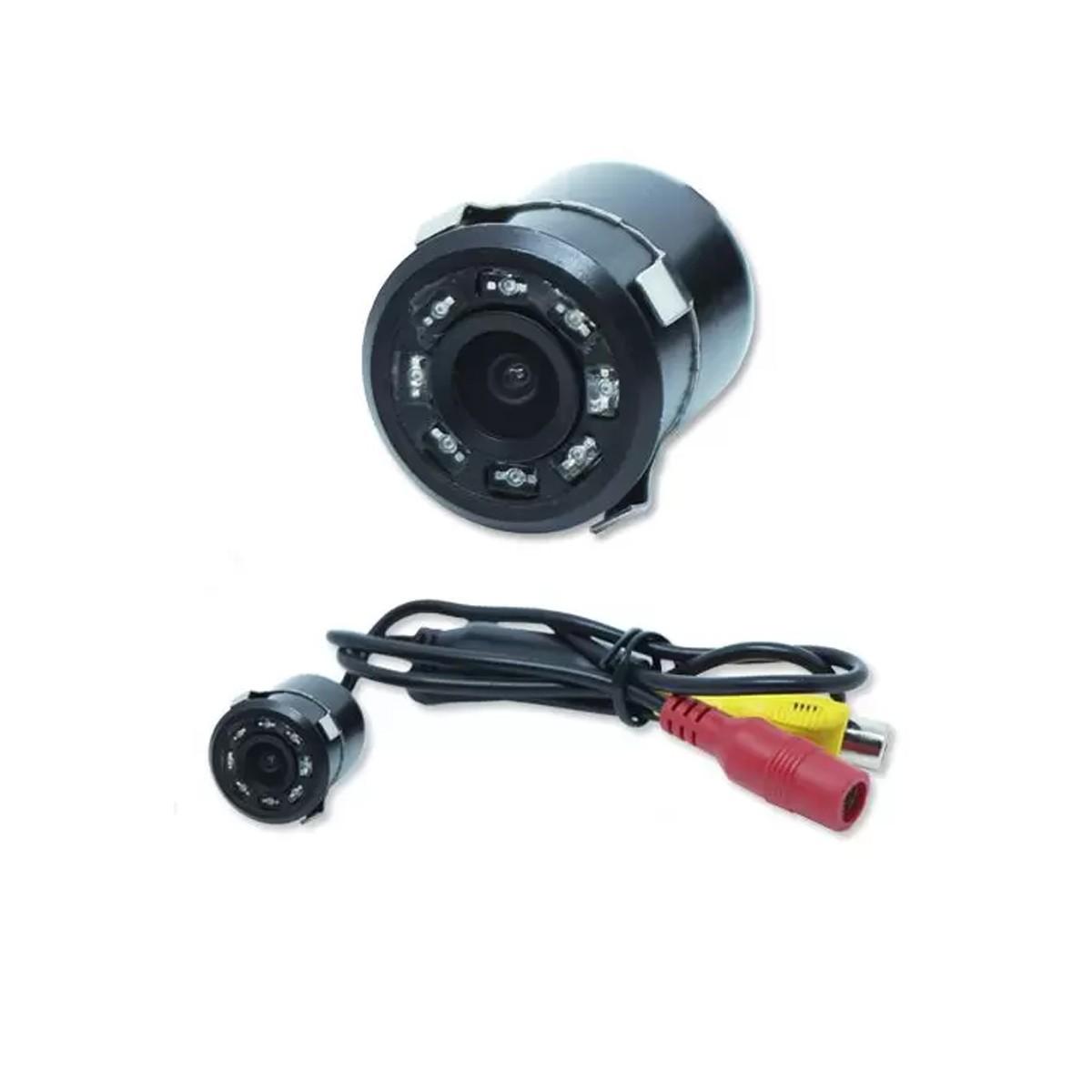 Câmera de Ré Colorida 2 em 1 Kit Fixador em Borboleta
