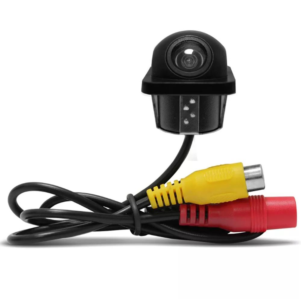 Câmera de Ré Colorida Tartaruga Universal Resistente Agua Preta Conexão RCA