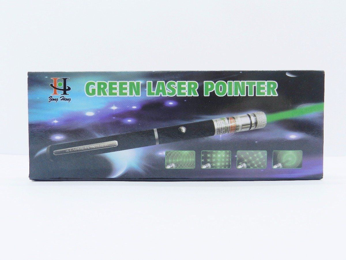 Caneta Laser Pointer Verde Lanterna 5000mw Até 9km 5 Pontas