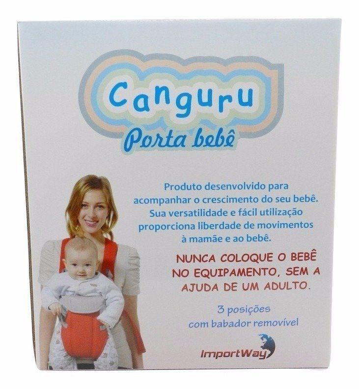 Canguru Bebê de Algodão Preto Importway