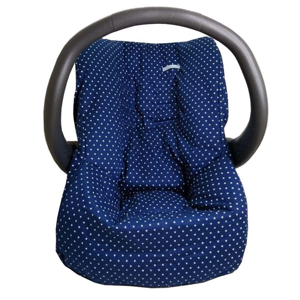 Capa de Bebe Conforto Tecido Estampa Estrela Marinho