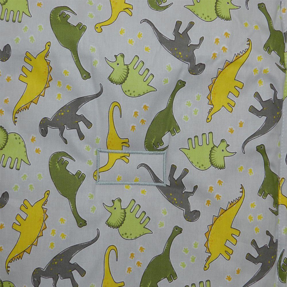 Capa Para Carrinho De Bebe Estampa de Dinossauro Cinza