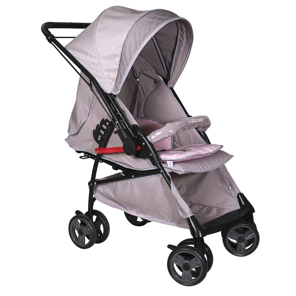 Carrinho de Bebê Berço Galzerano Maranello 2 em 1 Cinza Rosa